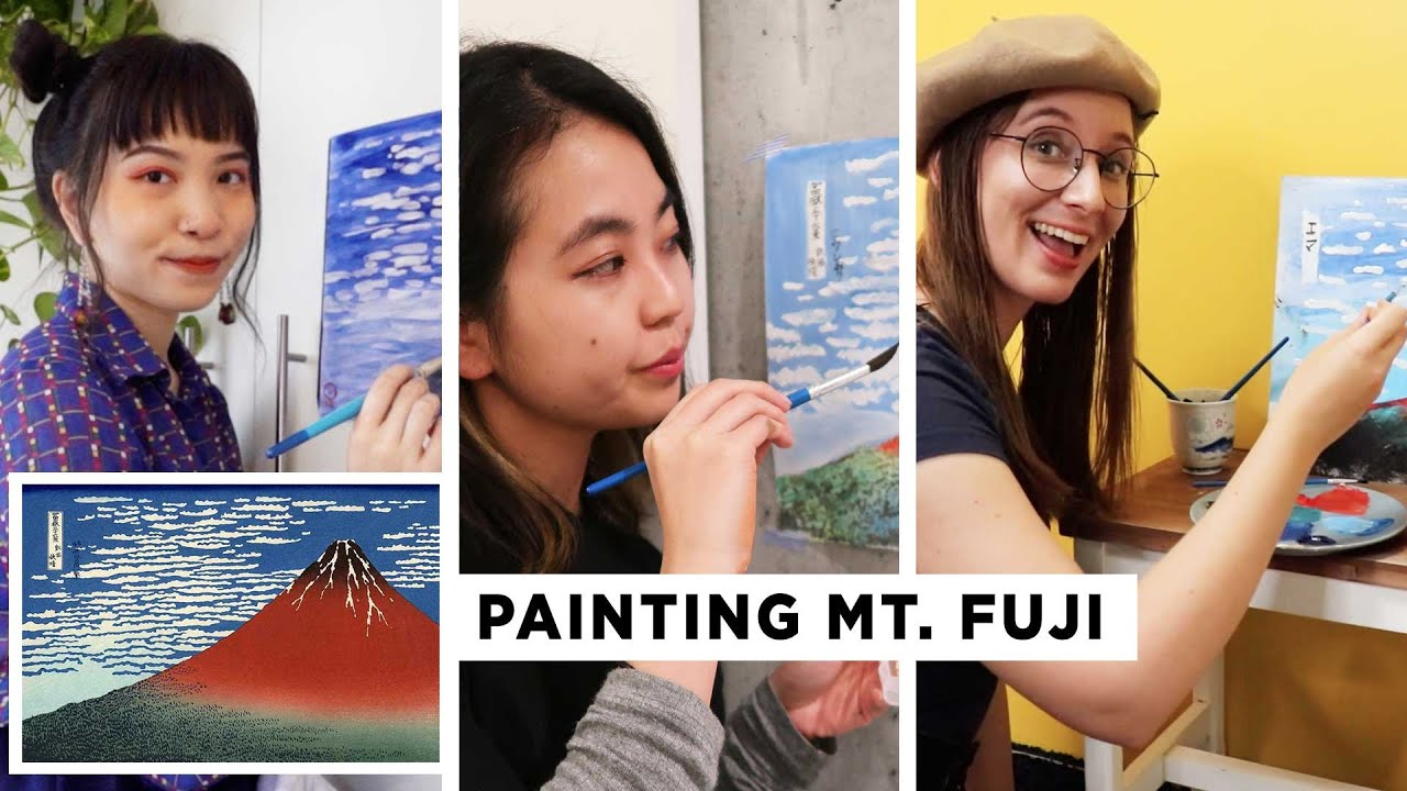 We Tried Recreating THIS Iconic Japanese Paintings… (Bob Ross Style)