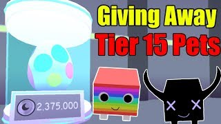 Giving Away Tier 15 Pets - Roblox Pet Simulator NEW UPDATE!