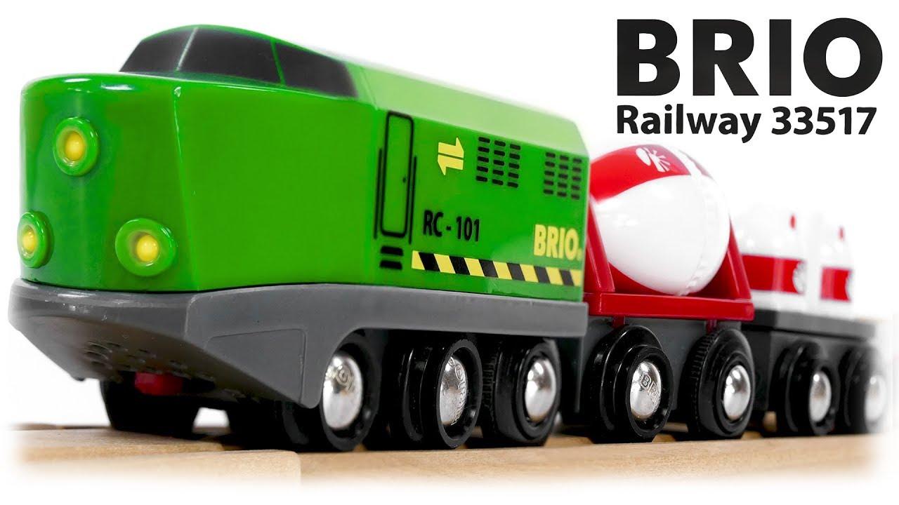 Brio Railway 33517 Remote Control Train Set With Wooden Track