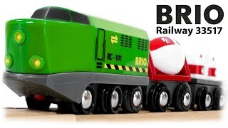 BRIO Railway 33517 Remote Control Train Set with Wooden Track