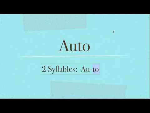 Auto How To Pronounce Auto In English
