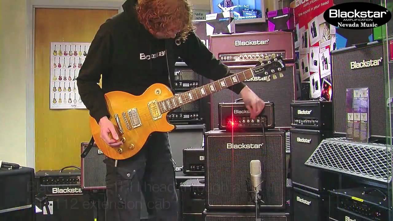 Blackstar HTV112 Extension Cab with a HT1R Head Demo - YouTube