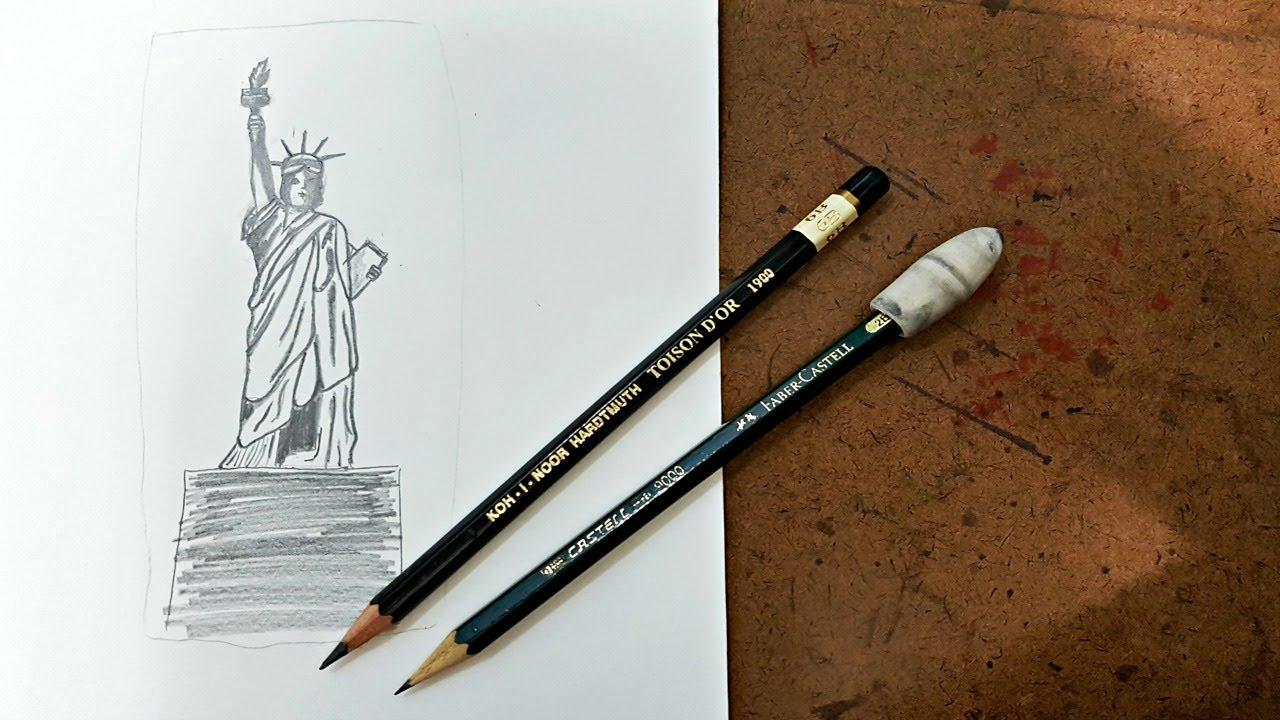 Como Desenhar A Estatua Da Liberdade Muito Facil Statue Of