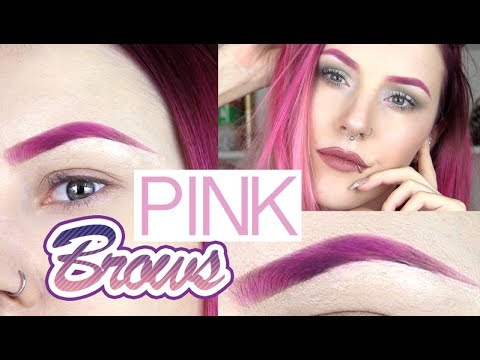 How I Get My Pink Eyebrows 💘🌸