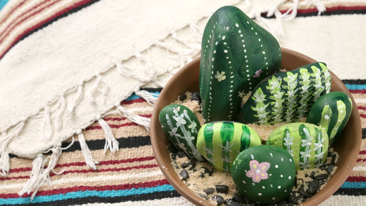 painted rock cactus garden southern