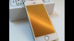 PerfectFit iPhone 5/5c/5s Champagne Gold GlassShield Premium Glass Screen Protector