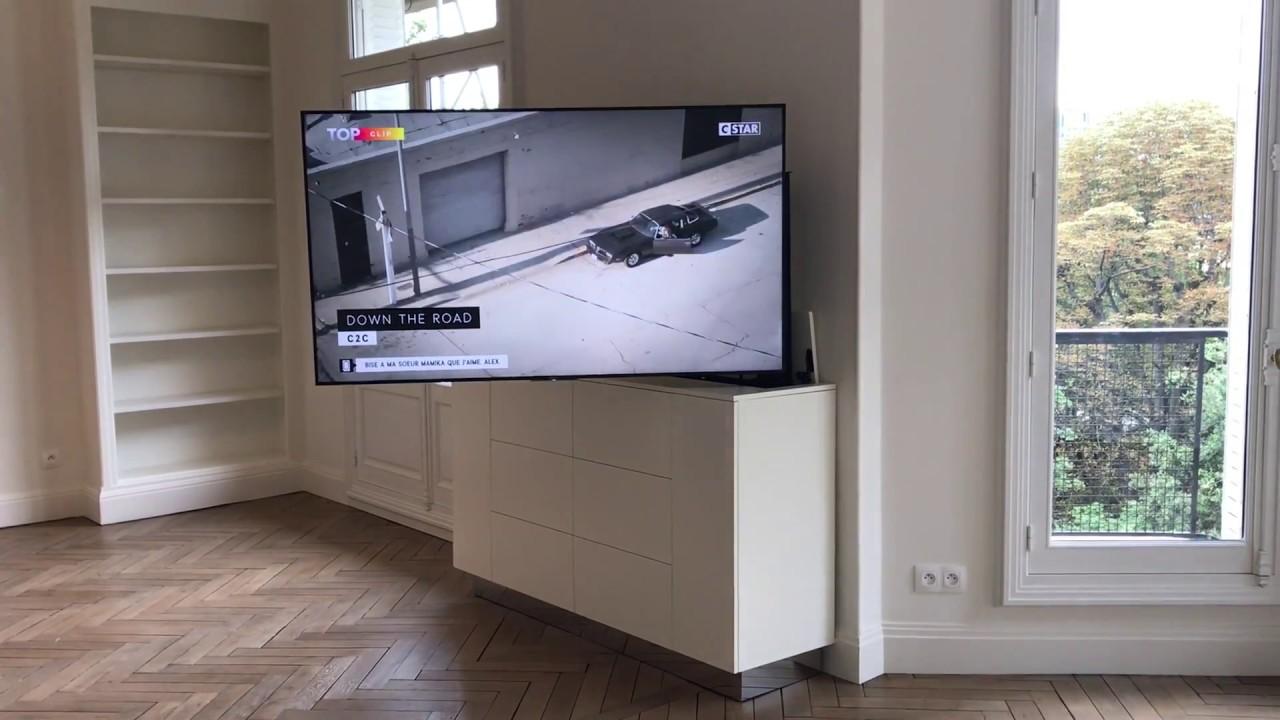 إثارة نفسيا لين لطف هدأ meuble pour tv escamotable