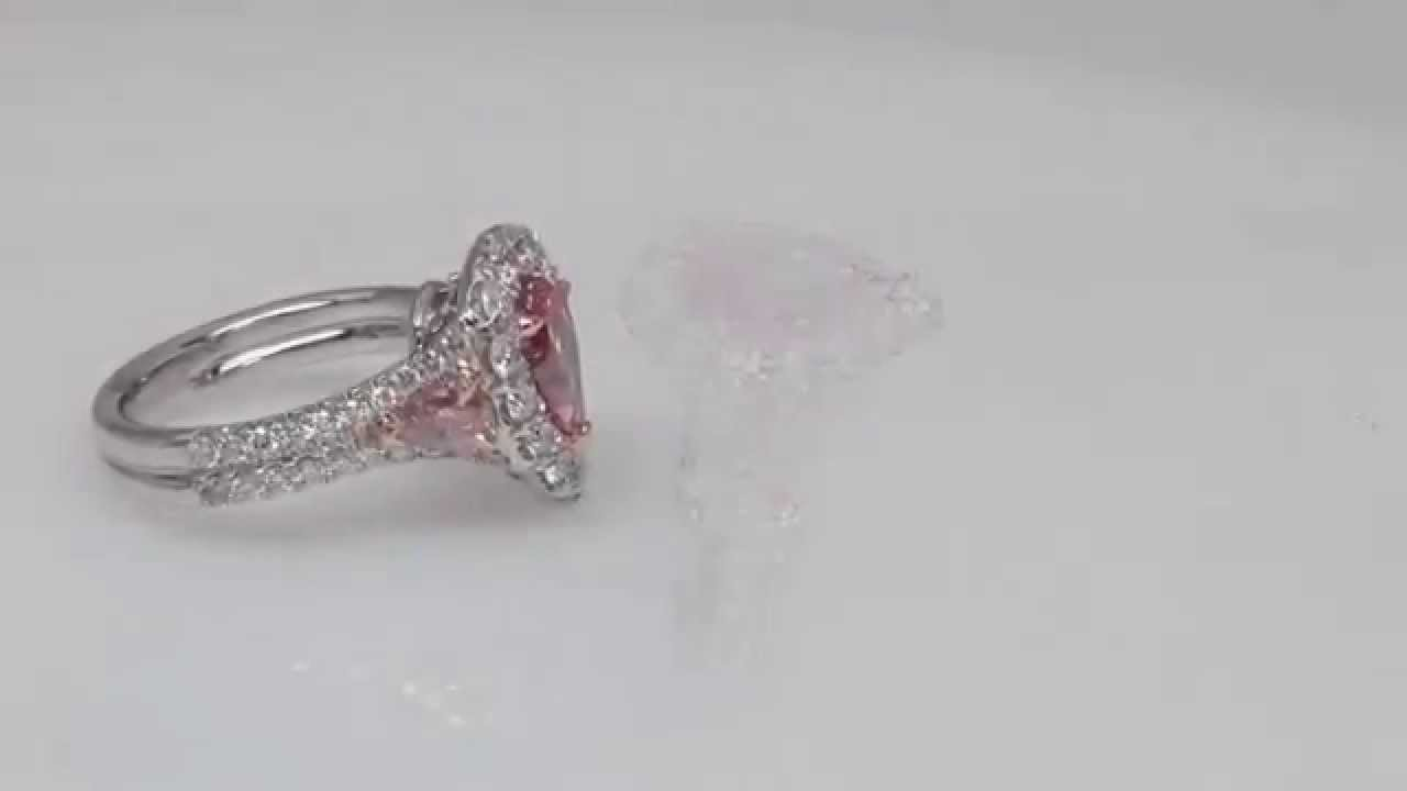 Celebrity Fancy Red Diamond Engagement Ring Top Luxury Jewelry Made By  Ostasz