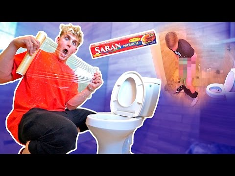 SAVAGE SARAN WRAP TOILET PRANK **PRANK WARS**
