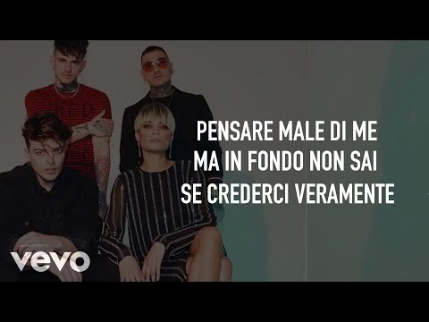 The Kolors & Elodie - Pensare Male (Testo/Lyrics)