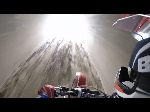 DIRT BIKE RIDE THROUGH A TUNNEL