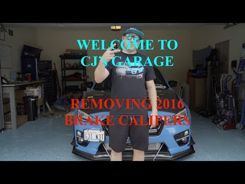 Welcome to CJ's Garage | Removing my brake calipers for powder coating!
