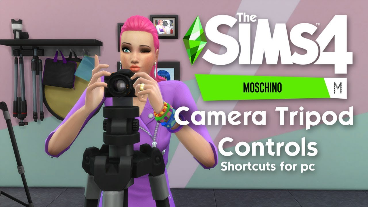 ALL new Camera Controls & Interactions | The Sims 4 Moschino Stuff