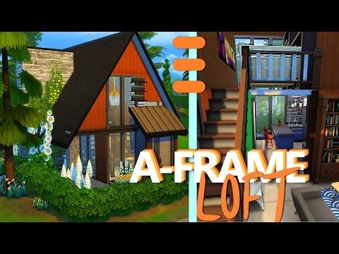 TINY A-FRAME LOFT - The Sims 4 House Building