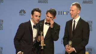Justin Horowitz / La La Land Lyricists - Golden Globes -  Full Backtage Interview