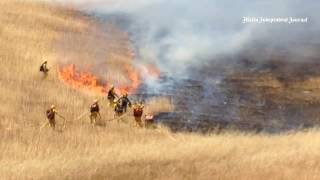 Marin County Fire trains seasonal recruits on fighting wildland fires at St. Vincent's property