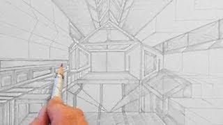 Raum abstrakt, zeichnen im Zeitraffer (abstract Room, drawing in fast motion)