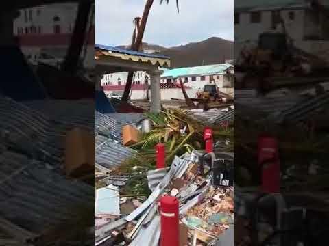 BVI Hurricane Irma Road Town Tortola footage