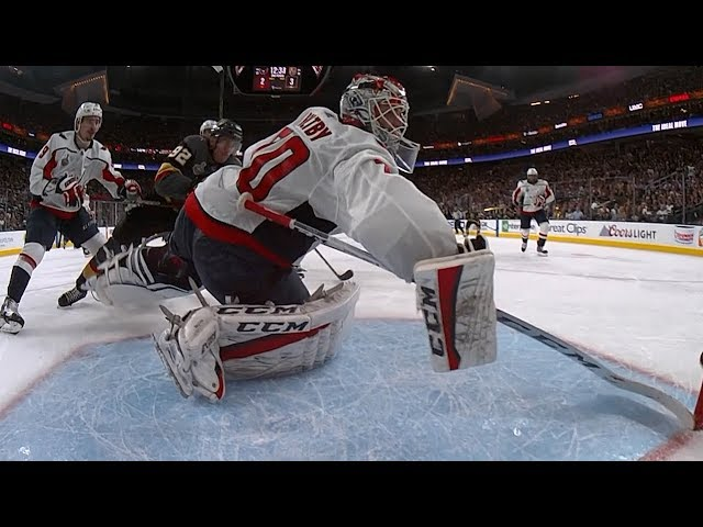 Braden Holtby makes heads-up save on goal line