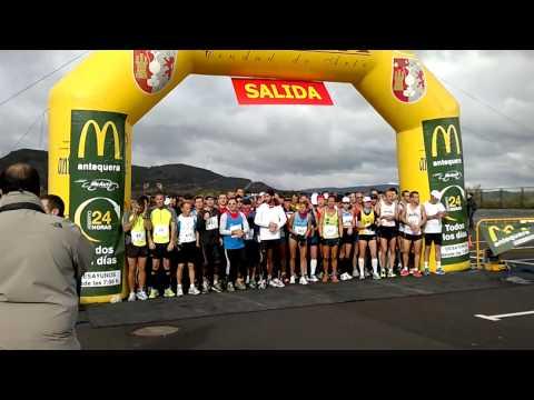 1 media maratòn ,Ciudad de Antequera 11-11-2012 salida INFISPORT