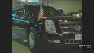 President Obama's Limo Gets Stuck.