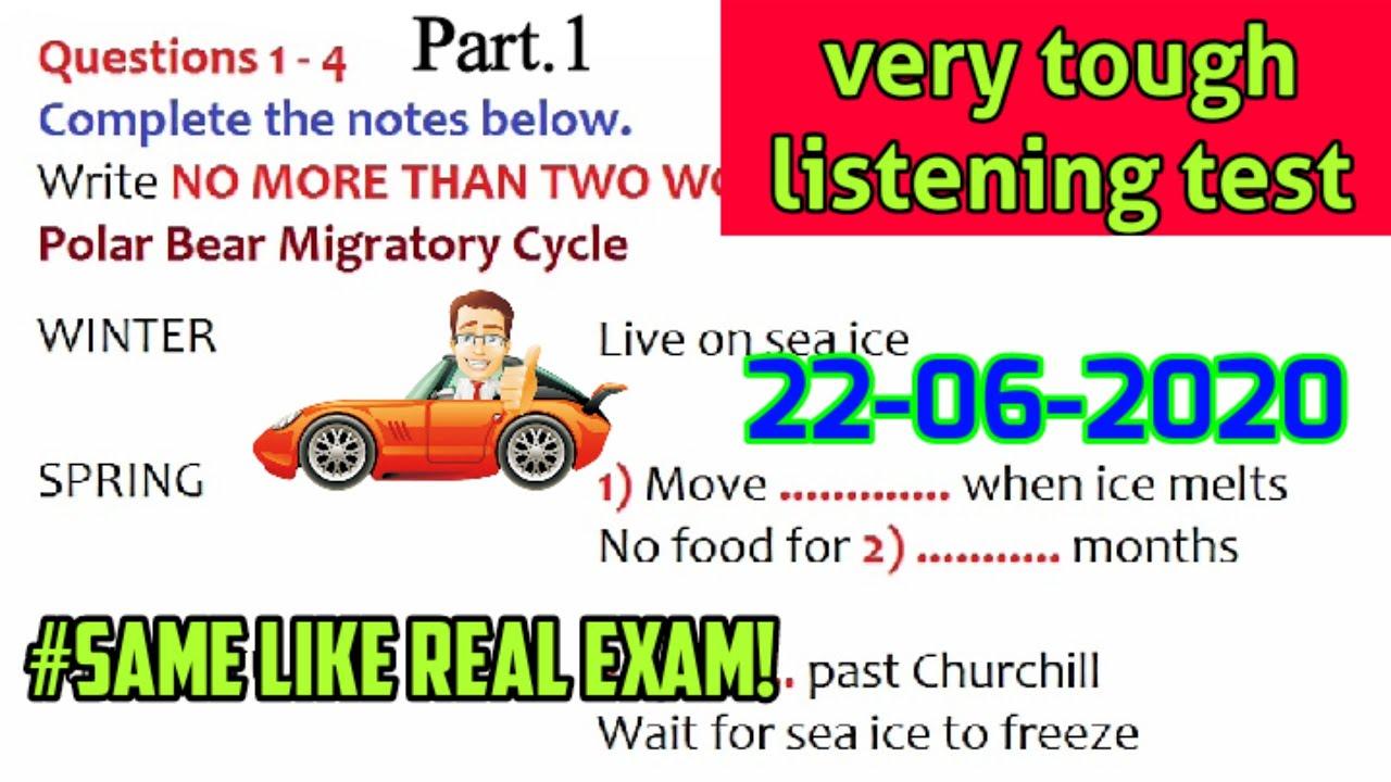 New IELTS Listening test | Polar Bear Migratory Cycle listening test | new listening test 2020