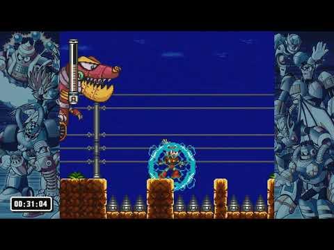 LP Mega Man Legacy Collection 2 part 34 - MM7 Challenges - Less Of A Remix  