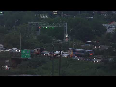 First rush hour traffic of Route 495 closures