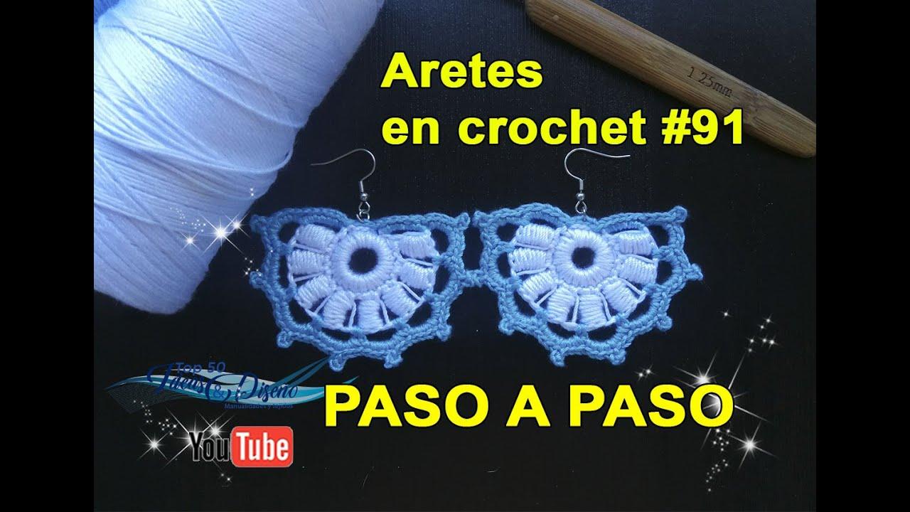 Tutorial Aretes en crochet #91 muy Hermosos!!