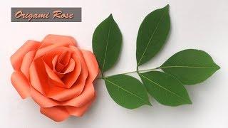 কাগজের তৈরি জিনিস | Easy Paper Craft flower Rose | কাগজের ফুল বানানো | হাতের তৈরি জিনিস