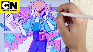 Pearl New Look-Speed Drawing | Steven Universe | Cartoon Network