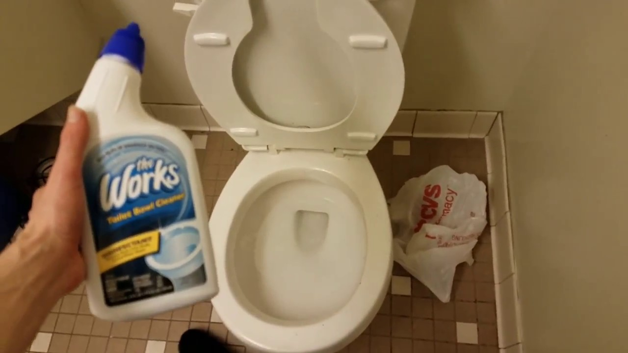 The Works Disinfectant Toilet Bowl Cleaner Review With Demonstration ...
