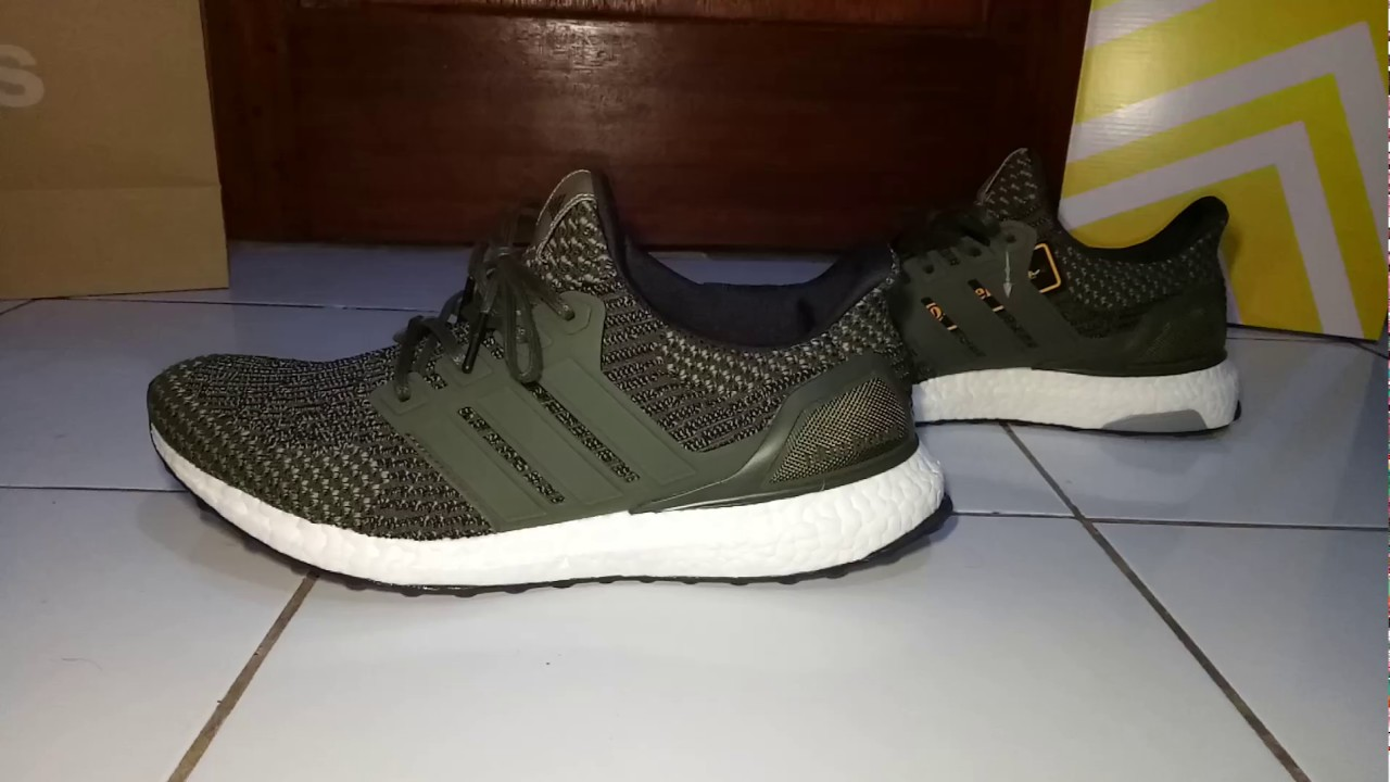 e2e71bed8bd9f ADIDAS ULTRA BOOST 3.0 LTD MILITARY GREEN - ON FEET - YouTube