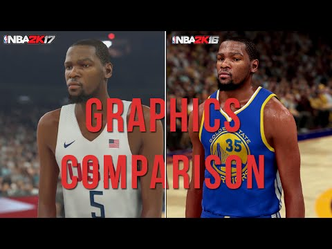 NBA 2K17 vs NBA 2K16 - 1st Trailer Official Face/Graphics Comparison