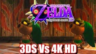 Zelda Majora S Mask 3D HD 4K Next Gen Switch 3DS Graphics Comparison