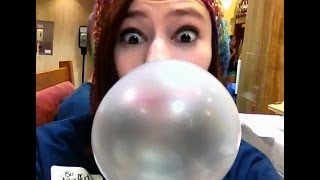Blowing Bubble Gum Bubbles #17