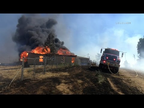 3 Alarm Brush Fire / Riverside   RAW FOOTAGE
