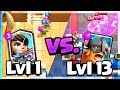 WORLD RECORD? Lvl 13 Elite Barbarians vs. Lvl 1 Player! Clash Royale Funny Moments!