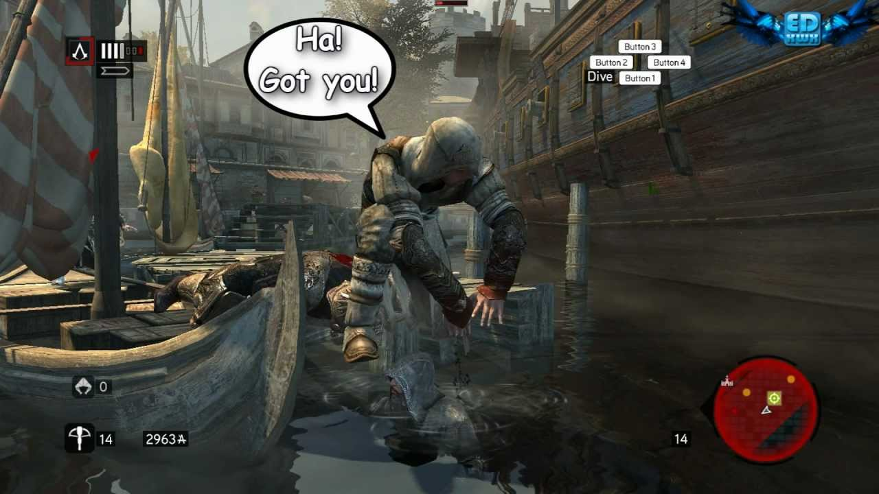 Assassin's Creed: Revelations Bloopers Bugs Glitches Funny