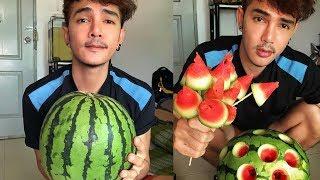 Hot boy ăn chua Thái Lan ▶ Siêu hài với cách ăn dưa hấu chất nhất quả đất