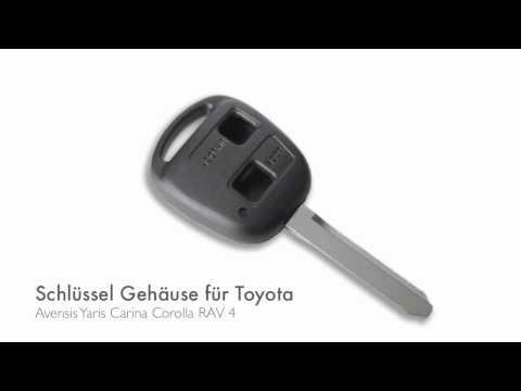 2 Tasten Umbaukit Klappschlüssel passend für Toyota Avensis Carina Corolla Yaris