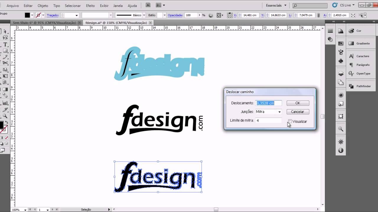 Contorno através de expansão de objeto (Illustrator) - YouTube