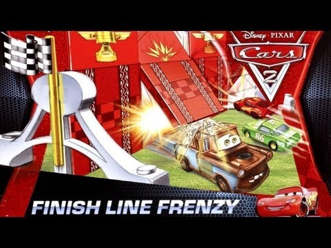 Cars 2 Finish Line Frenzy Game Playset EXCLUSIVE Silver Lightning Mcqueen diecast by Blucollection