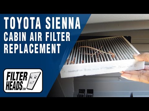 how to replace cabin air filter toyota sienna youtube. Black Bedroom Furniture Sets. Home Design Ideas