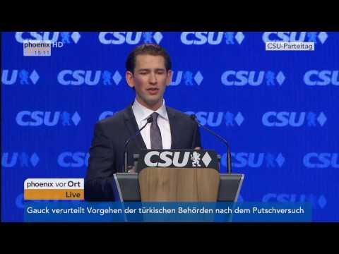CSU-Parteitag: Gastrede von Sebastian Kurz am 04.11.2016