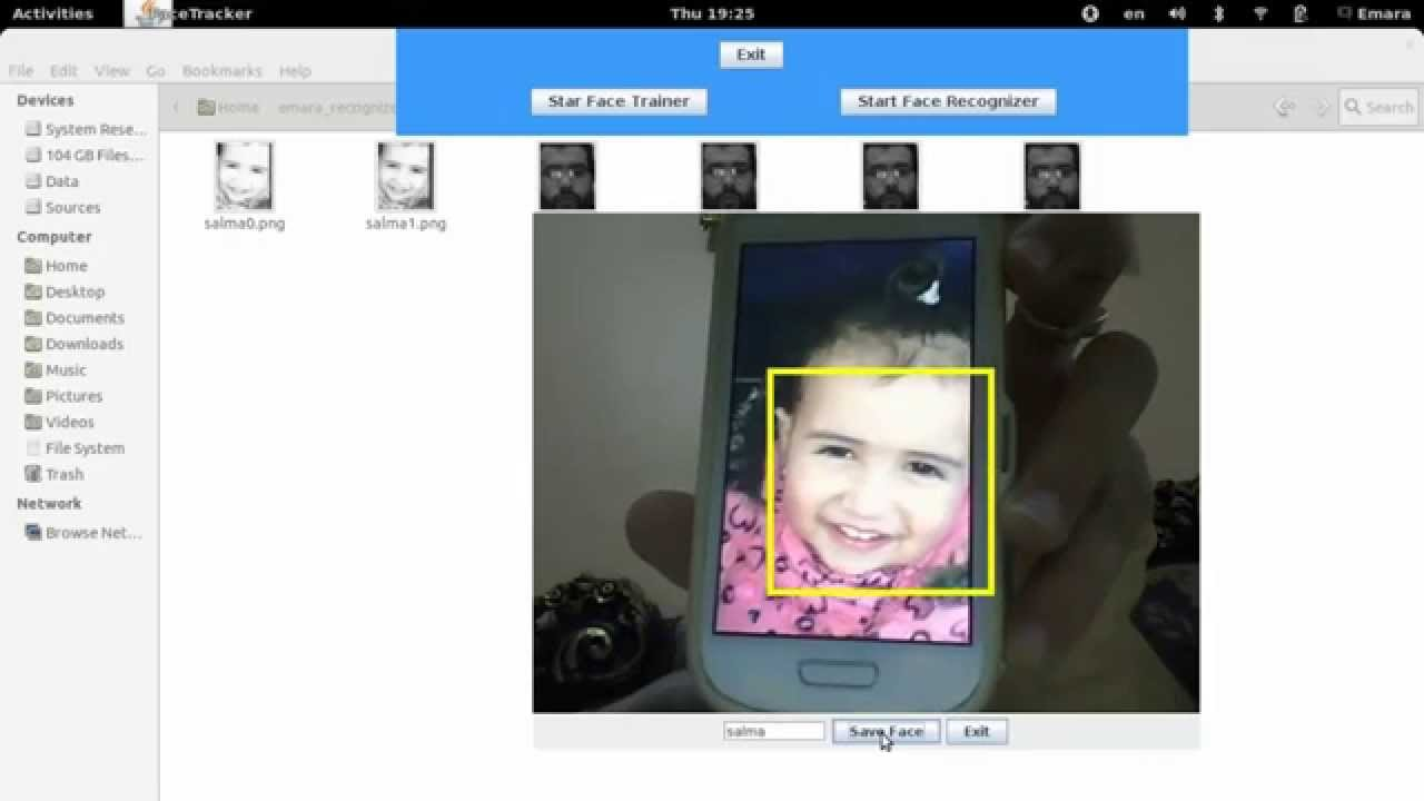 Realtime Face Recognition with database of faces using JavaCV