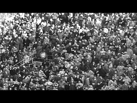 Pro football:  Detroit Lions defeat New York Giants by 27-16 at the Polo Grounds ...HD Stock Footage