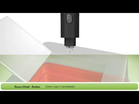 Como fazer um teste de glicemia no Novo Accu-Chek Active