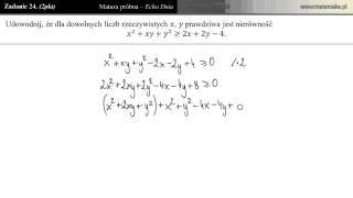 Zadanie 24 - Matura próbna 05.03.2013 [Echo Dnia]