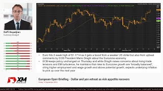 Forex News: 14/09/2018 - Dollar and yen retreat as risk appetite recovers